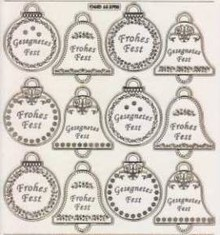Sticker geprägte Ziersticker, Weihnachten