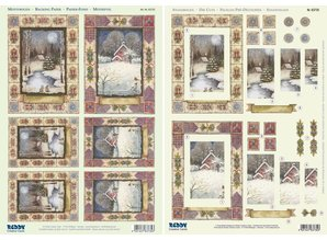 "BASTELSETS / CRAFT KITS: 2 Deluxe Die cut sheets: 3D Stanzbogenset ""Christmas landscapes"""