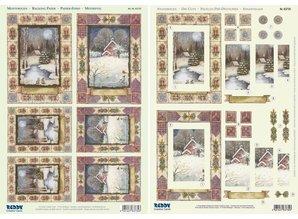"BASTELSETS / CRAFT KITS: 2 Deluxe fogli Die taglio: 3D Stanzbogenset ""paesaggi di Natale"""