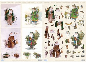 BILDER / PICTURES: Studio Light, Staf Wesenbeek, Willem Haenraets 3D Die cut sheets + background bow, Santas with animals