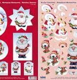 BILDER / PICTURES: Studio Light, Staf Wesenbeek, Willem Haenraets 3D-Stanzbogen : Weihnachten, 4 verschiedene Motive zur Gestaltung von 4 Karten