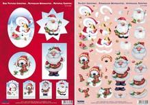 BILDER / PICTURES: Studio Light, Staf Wesenbeek, Willem Haenraets 3D fogli Die taglio Natale, 4 motivi diversi per la progettazione di 4 carte