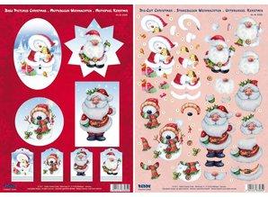 BILDER / PICTURES: Studio Light, Staf Wesenbeek, Willem Haenraets 3D Die cut sheets Christmas, 4 different motives for the design of 4 cards