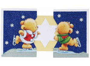 "BILDER / PICTURES: Studio Light, Staf Wesenbeek, Willem Haenraets 3D Die cut sheets ""Christmas"", 3 different bears motifs for designing 3 cards"