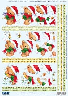 """BILDER / PICTURES: Studio Light, Staf Wesenbeek, Willem Haenraets 3D Die fogli singoli """"Natale"""", 3 diversi motivi orsi per la progettazione di 3 carte"""