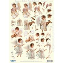 3D Die cut sheets: 4 angel motifs