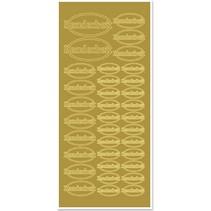 Sticker, Handarbeit, gold-gold