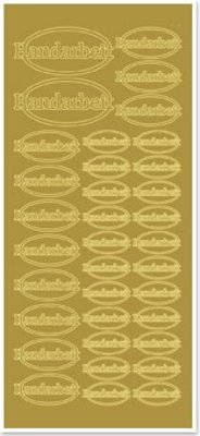 Sticker Klistermærker, håndlavede, guld-guld