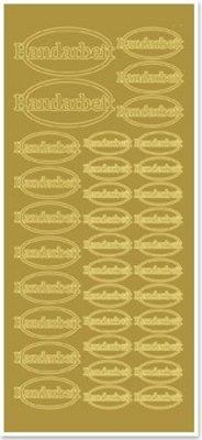 Sticker Stickers, handmade, gold-gold