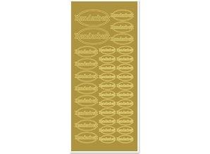 Sticker Adesivi, fatto a mano, oro-gold