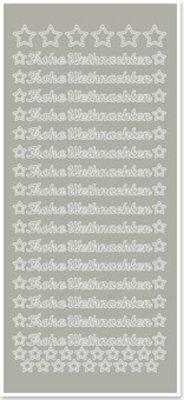 Sticker Klistermærker, tysk tekst: Glædelig Jul