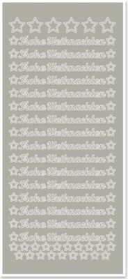 Sticker Stickers, German text: Merry Christmas