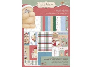 Forever Friends A4 Designerblock, Christmas Collection
