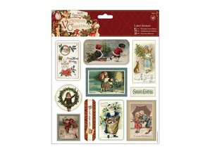Sticker Selvklæbende etiketter, victorianske jul