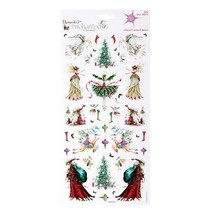 Glitter Cardstock Stickers, Christmas