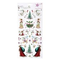 Glitter Cardstock Stickers, Kerstmis