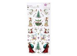 Sticker Glitter Cardstock Stickers, Christmas