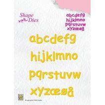 Corte y estampado en relieve plantillas, letras de la A - Z