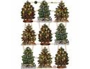 BILDER / PICTURES: Studio Light, Staf Wesenbeek, Willem Haenraets Traditionelle glansbilleder med smukke print motiv: Vintage juletræer