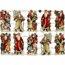 BILDER / PICTURES: Studio Light, Staf Wesenbeek, Willem Haenraets Traditionelle Glanzbilder mit wunderschönem Druckmotiv : Vintage Weihnachtsmänner