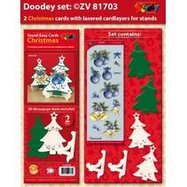 Eksklusive Bastelset for 2 jul kort + kortholderen