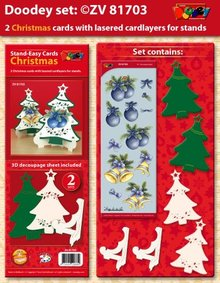 Exlusiv Exclusives Bastelset for 2 Christmas cards + card holder
