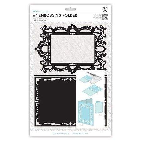 X-Cut / Docrafts A4 emboss.templ - vormige frame