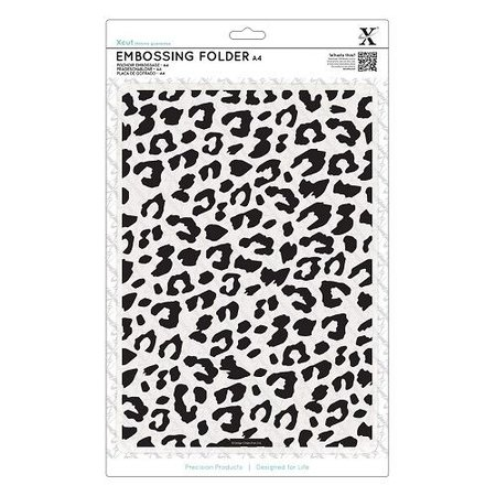 X-Cut / Docrafts A4 Prägeschablone - Leoparden-Druck