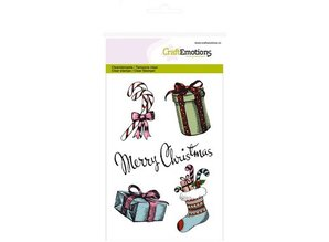 Crealies und CraftEmotions Transparent stamps, A6, Christmas motifs