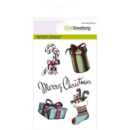 Crealies und CraftEmotions Transparent Stempel, A6, Weihnachtsmotive