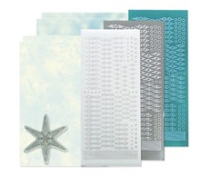 Sticker Bastelset: Stella sticker set, argento, bianco e blu