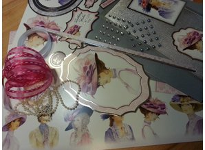 """Exlusiv Deluxe Bastelset with punched, great pictures and Luxury Designer cardboard """"My Fair Lady"""" Set No.2"""