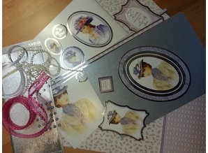 "Exlusiv Deluxe Bastelset with punched, great pictures and Luxury Designer cardboard ""My Fair Lady"" Set No.4"