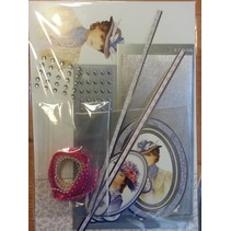 """Deluxe Bastelset with punched, great pictures and Luxury Designer cardboard """"My Fair Lady"""" Set No.4"""