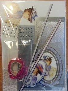 """Exlusiv Deluxe Bastelset mit ausgestanzte, tolle Bilder und Luxus Designer Karton """"My Fair Lady"""" Set Nr.4"""
