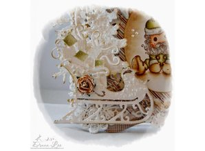 Die-namics Cutting and embossing stencils Christmas sleigh with gifts