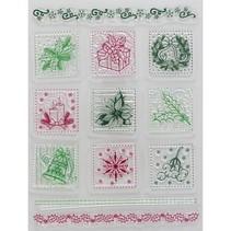 Tampons transparents, des motifs de Noël