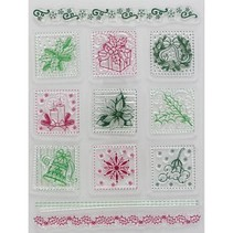 Transparent stamps, Christmas motifs