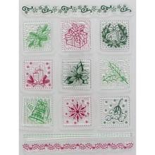 Viva Dekor und My paperworld Gennemsigtige frimærker, julemotiver