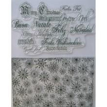 Viva Dekor und My paperworld Sellos transparentes, cristales de hielo y saludos de Navidad en muchos idiomas