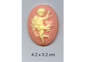 Embellishments / Verzierungen 1 cameo acrylic with Angels