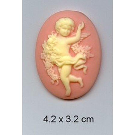 Embellishments / Verzierungen 1 de acrílico del camafeo con ángeles