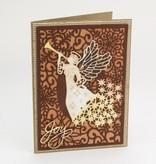 Creative Expressions Stanz- und Prägeschablonen, Weihnachtsmotive: Zierrahmen mit Schneeflocken