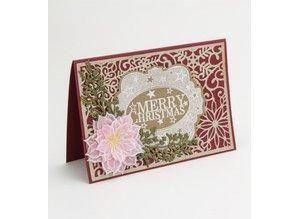 Creative Expressions Corte y estampado en relieve plantillas, motivos navideños: marco decorativo con los copos de nieve