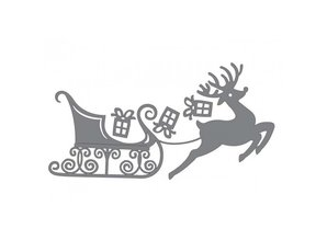 Couture Creations Cutting and embossing stencils, reindeer with sleigh