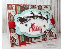 Taylored Expressions Cutting and embossing stencils, sleigh with reindeer 3