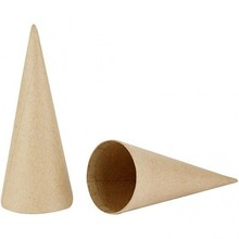 Objekten zum Dekorieren / objects for decorating Cone, H: 20 cm, 1 piece