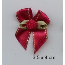 3 Luxus Mini schleifen, rot
