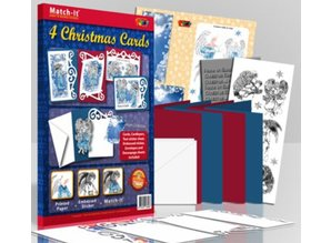 Exlusiv Bastelset: 4 Christmas Cards