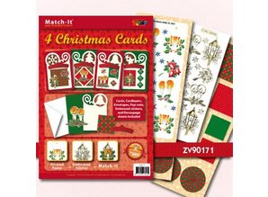 Exlusiv Bastelset: 4 Christmas Cards